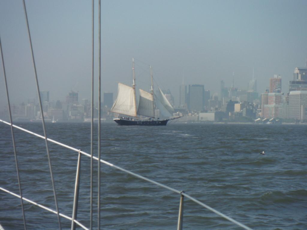 Old-fashioned schooner