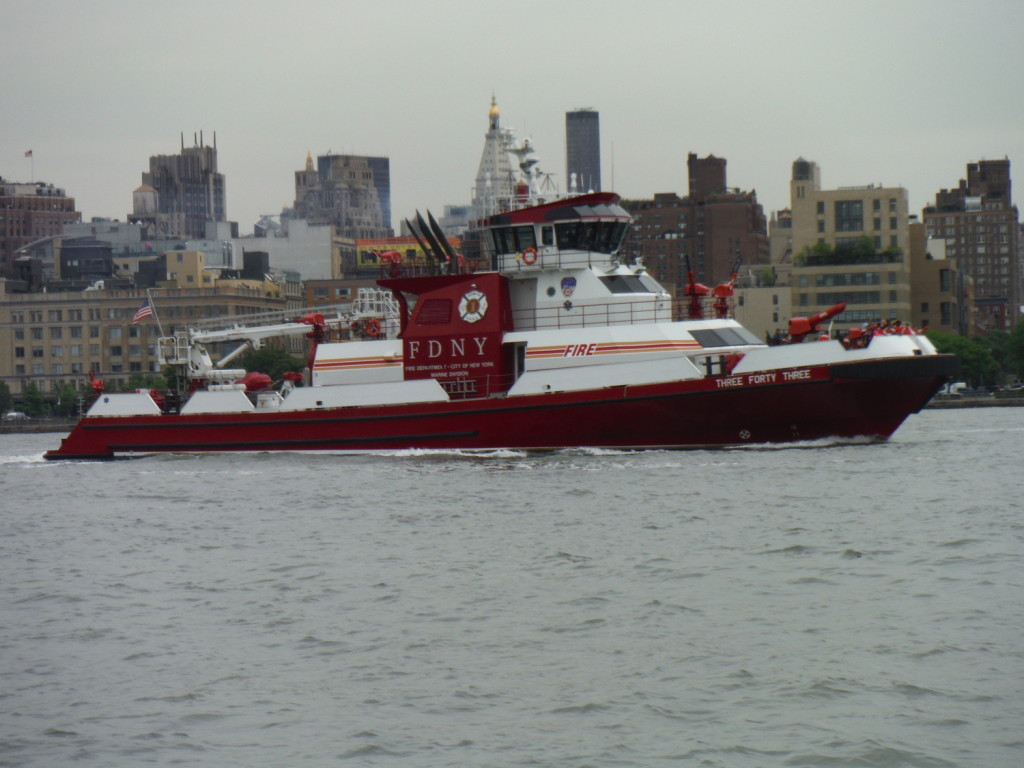 Firefighting boat
